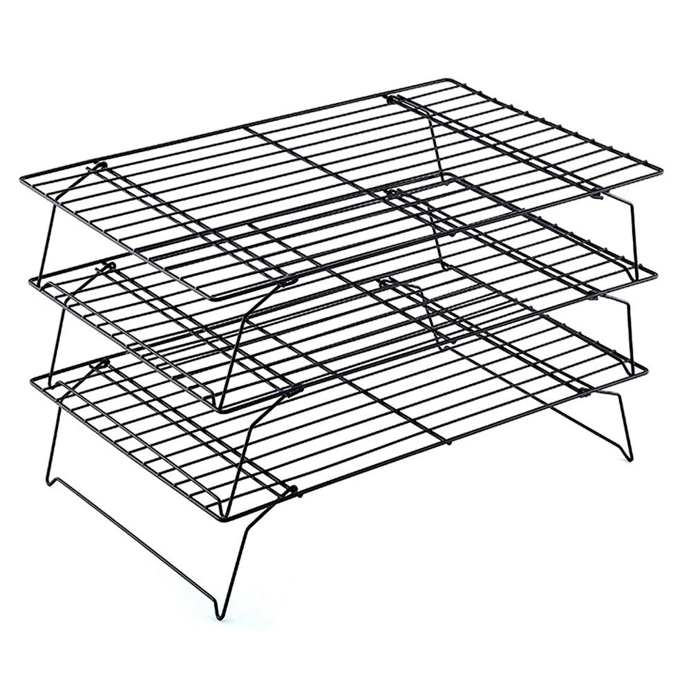 3 tier Stacked Non Stick Baking Cooling Rack