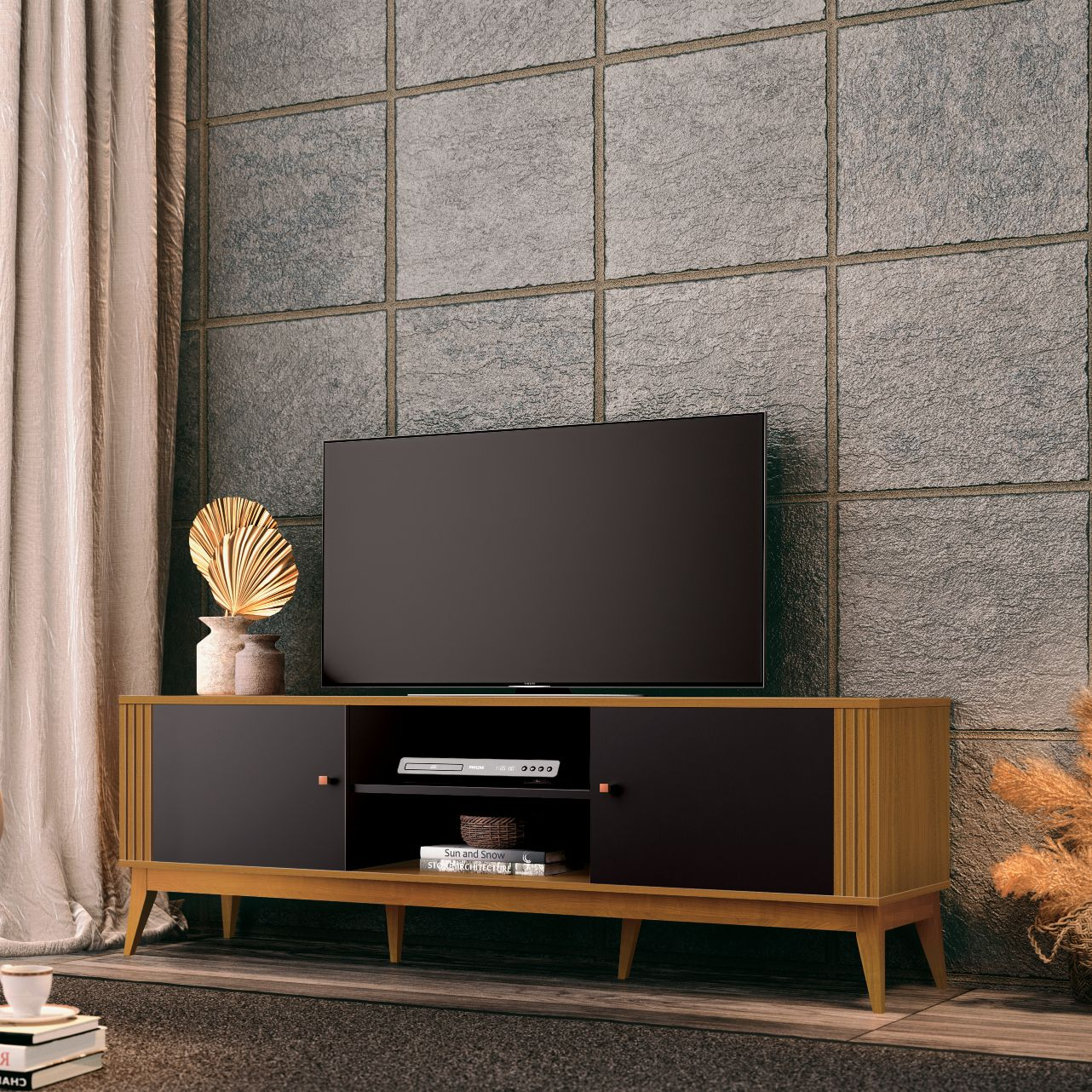 TV Unit Legacy Black-Cedar