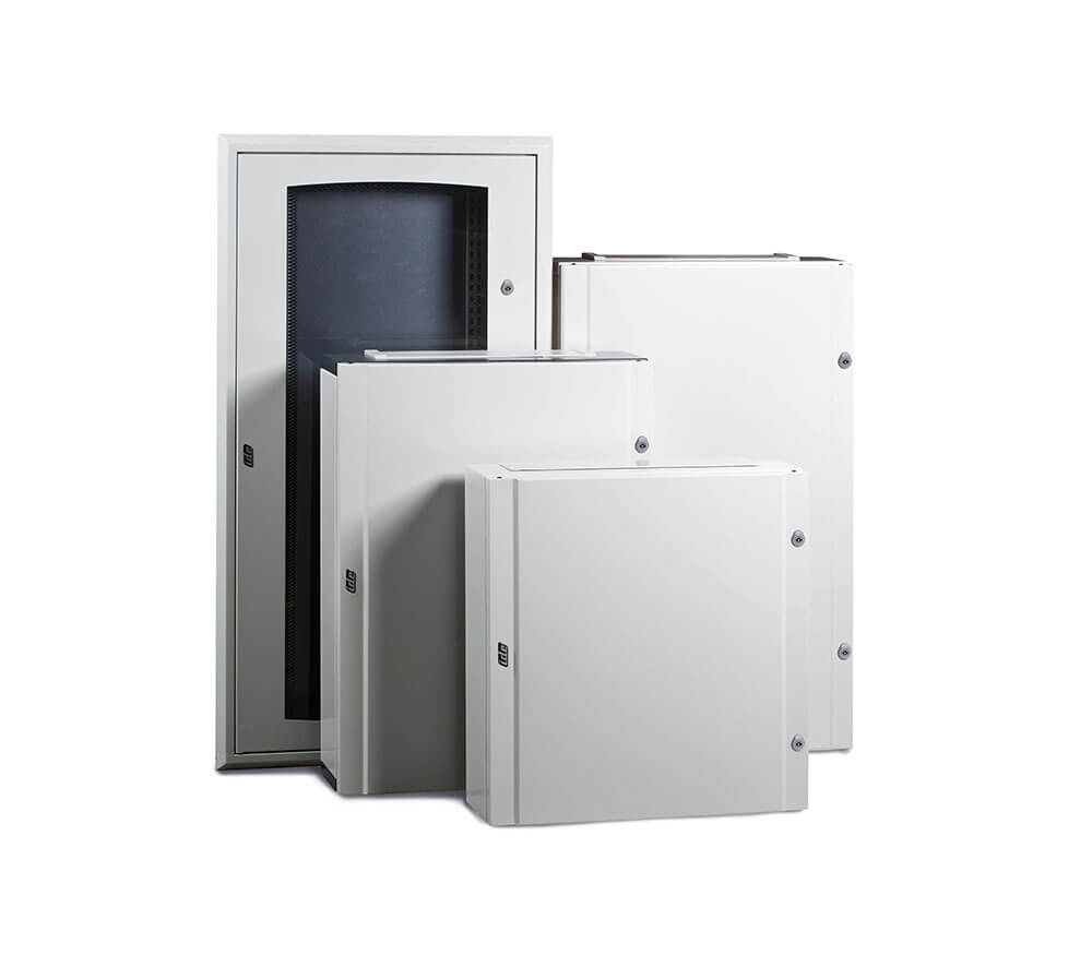 48 Way IP40 Flush Enclosure with Opaque Door