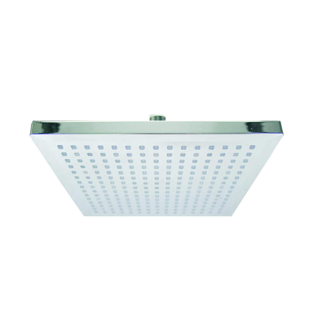 Temperature Controlled LED Shower Head - Square Large
