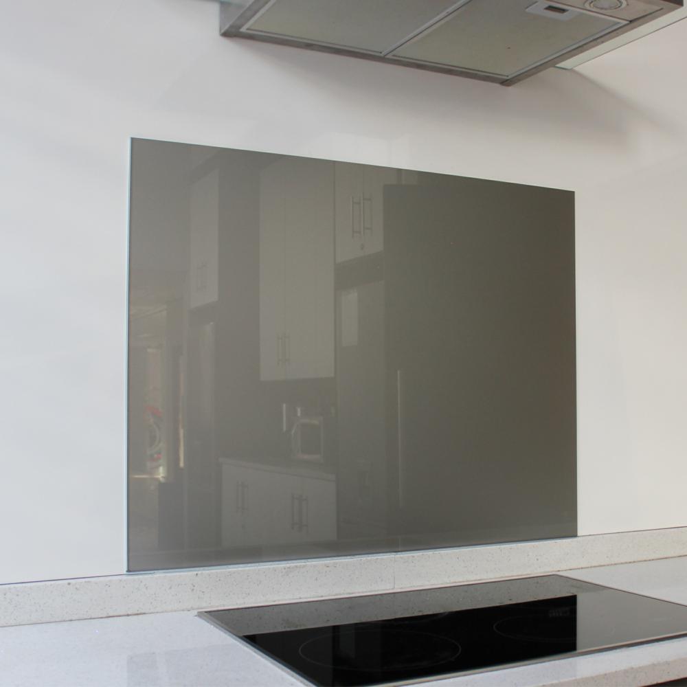 Metallic Silver Hob Glass Splashback (898 x 700 x 6mm)