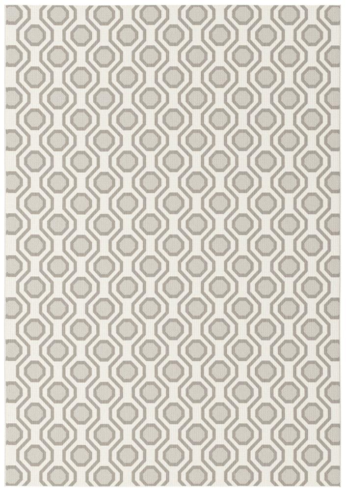 Rugs Original Honeycomb Design Essenza - Cream & Tan (200 X 290)