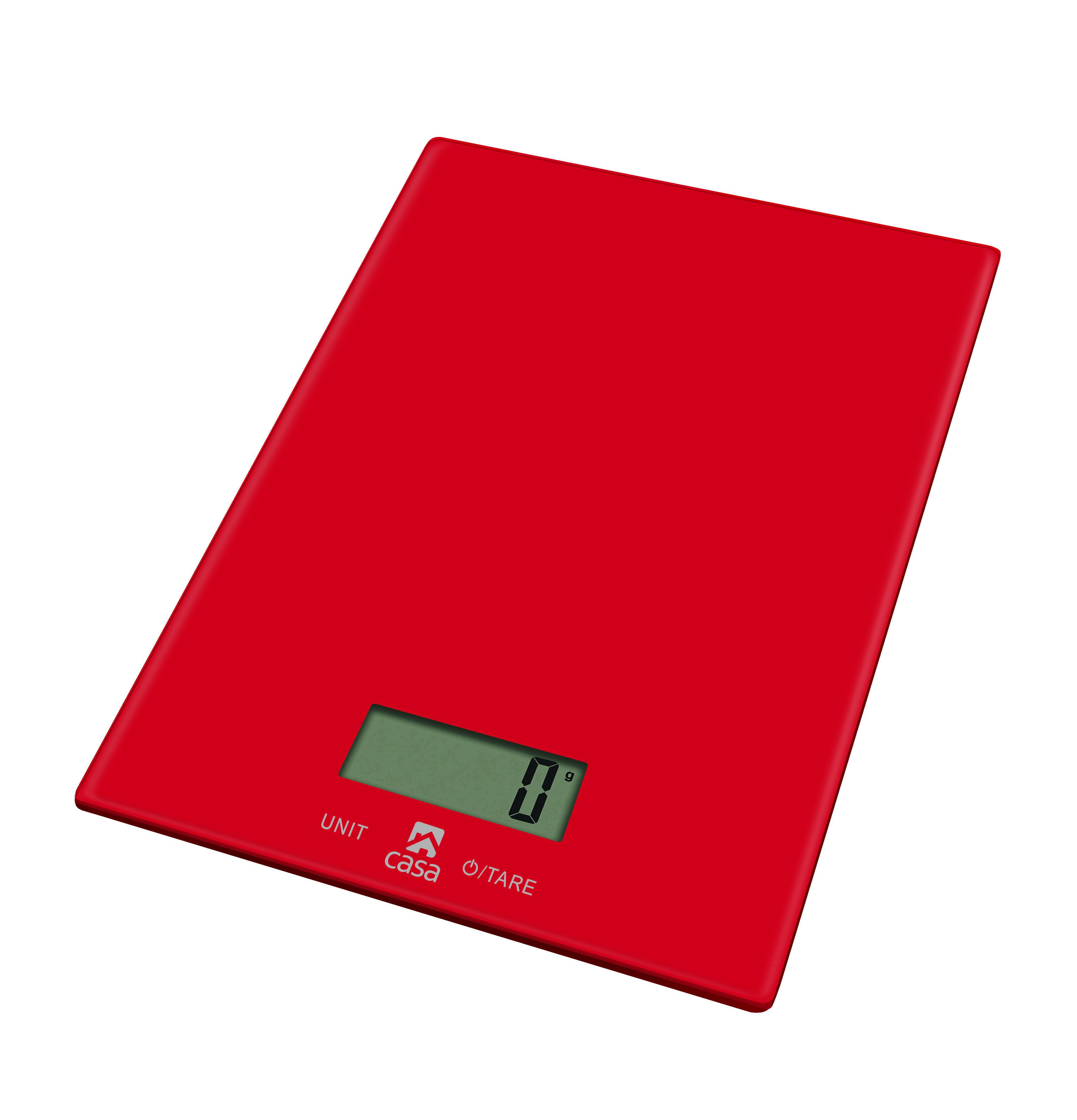 Casa Kitchen Scale  Glass - Rosso