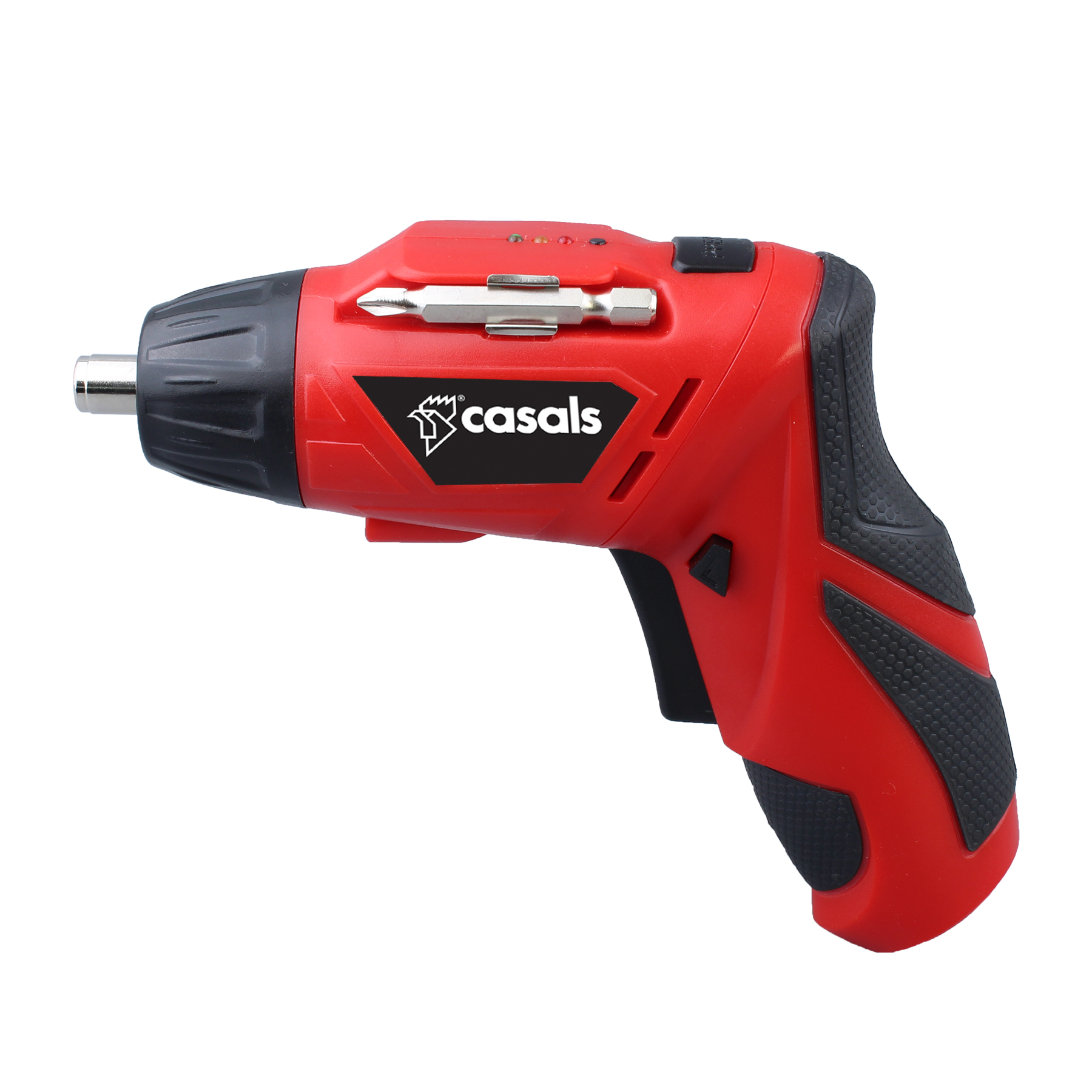 Casals Screwdriver Cordless Rechargeable 12 Piece Set Plastic Red 6.35mm 3.6V
