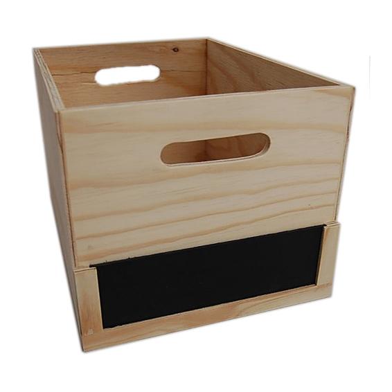 Large Storage Box  Chalkboard - Wood