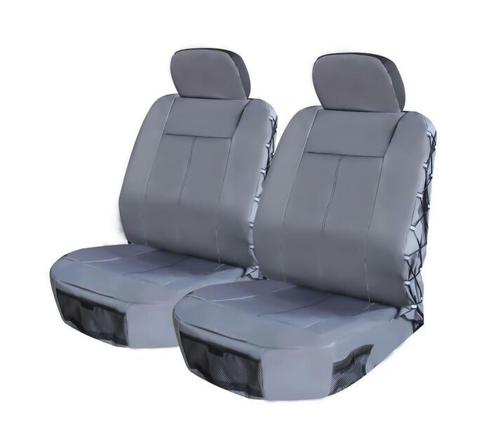 Front Seat Cover Set - Safari 4 Piece - Grey