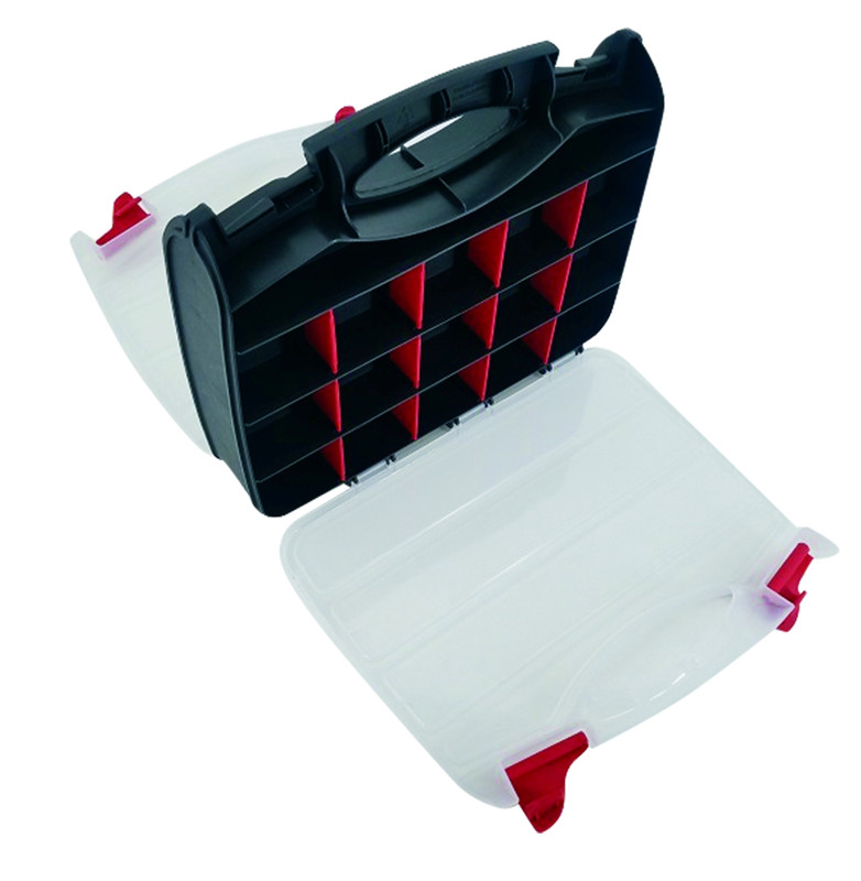 2-Sided Storage Case - 22 Compartments - size 370 x 300 x 80mm