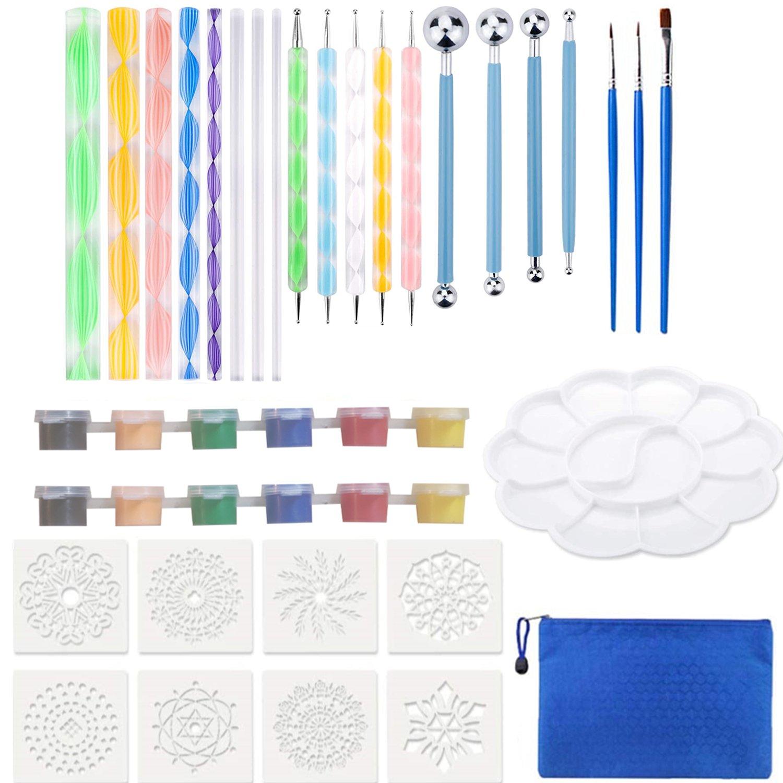 32Pcs Mandala Painting Dot Art Tools Kit