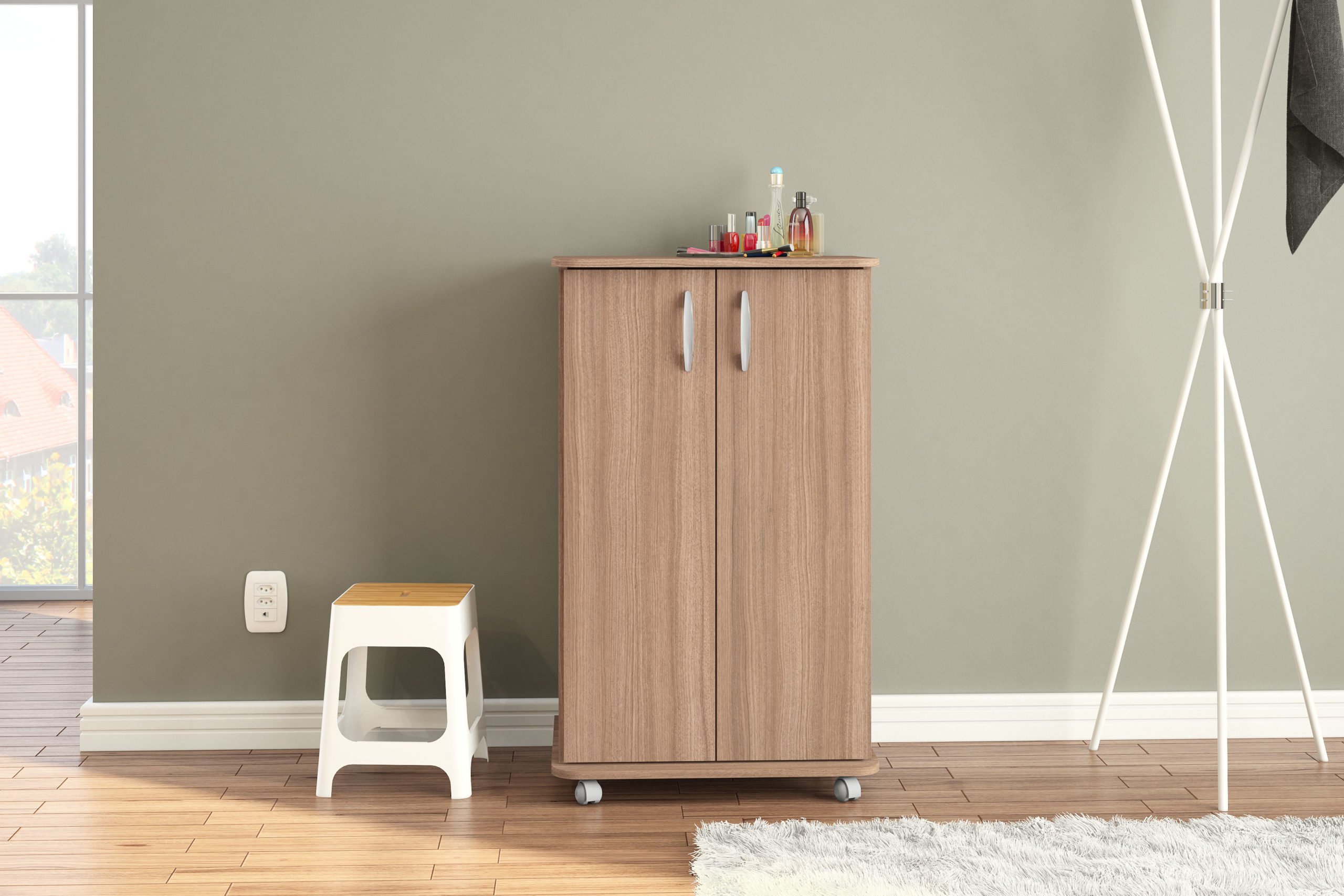 Click Furniture Lola Brown Cabinet