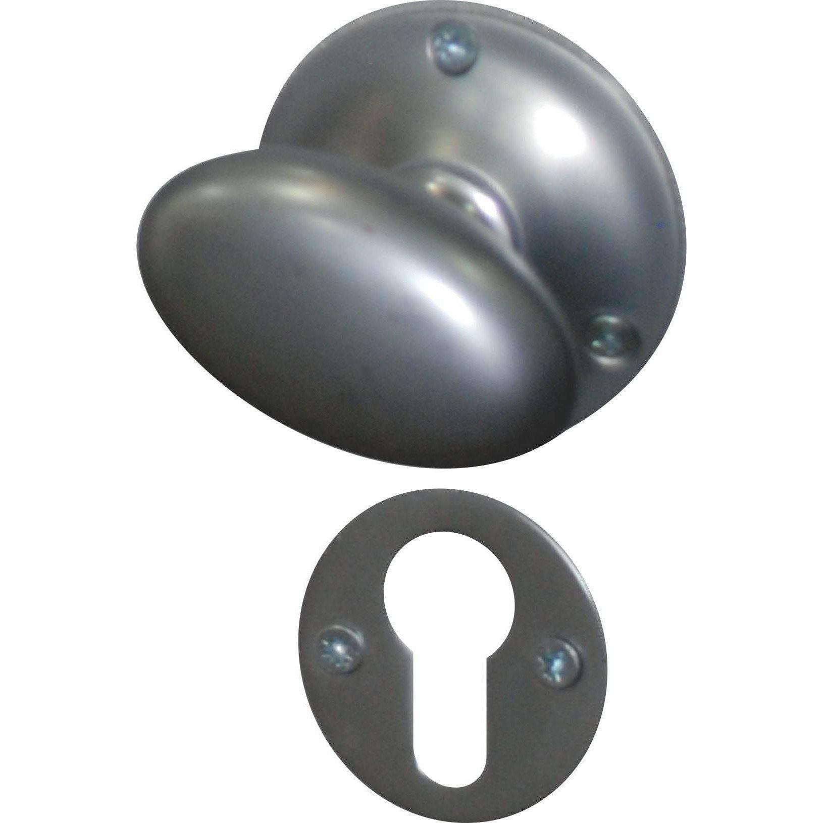 Oval solid brass knob
