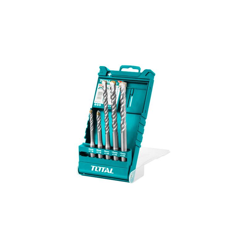 Total Tools SDS Hammer drill bits set 5Pcs Industrial