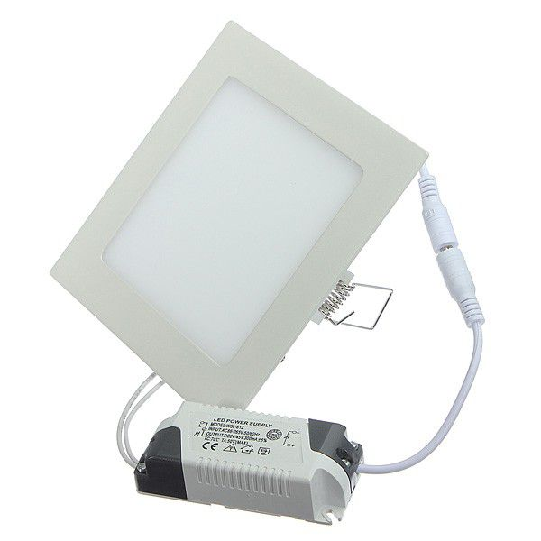 6W Square LED Panel Light - White 4 Pack