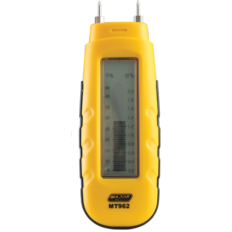 Moisture Meter with LCD Bargraph Display (MT962) - Major Tech