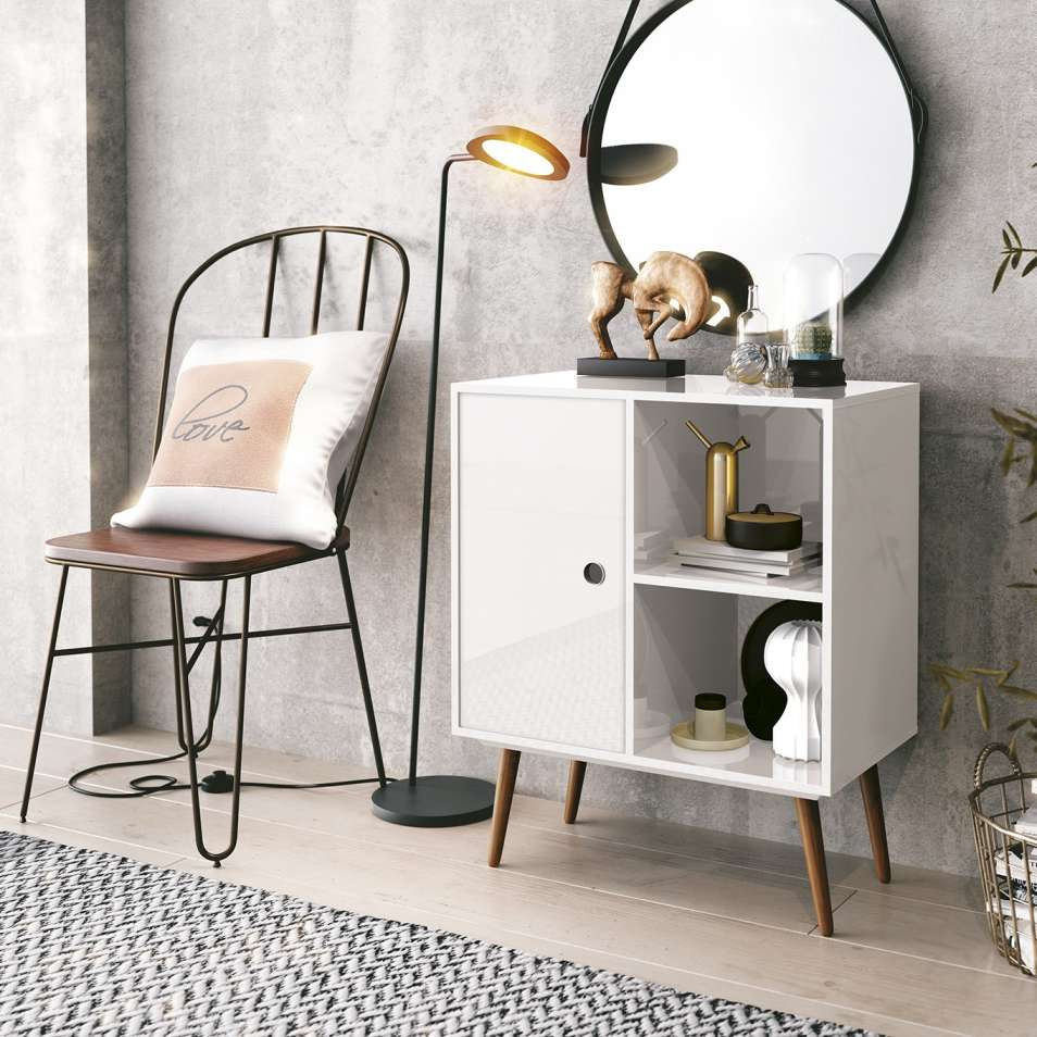 Duna Accent Table White