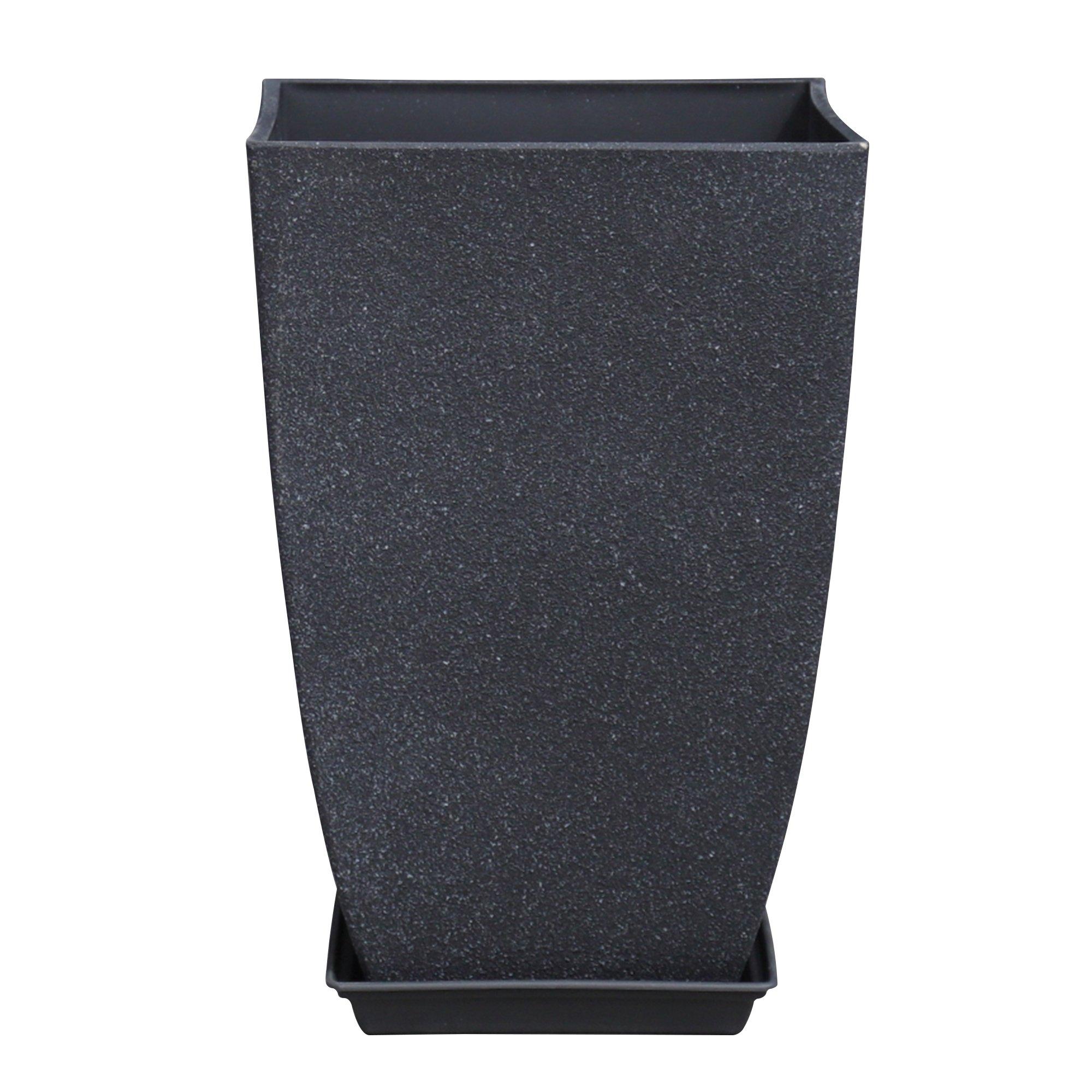 Imitation Cement Square Tall Pot Planter
