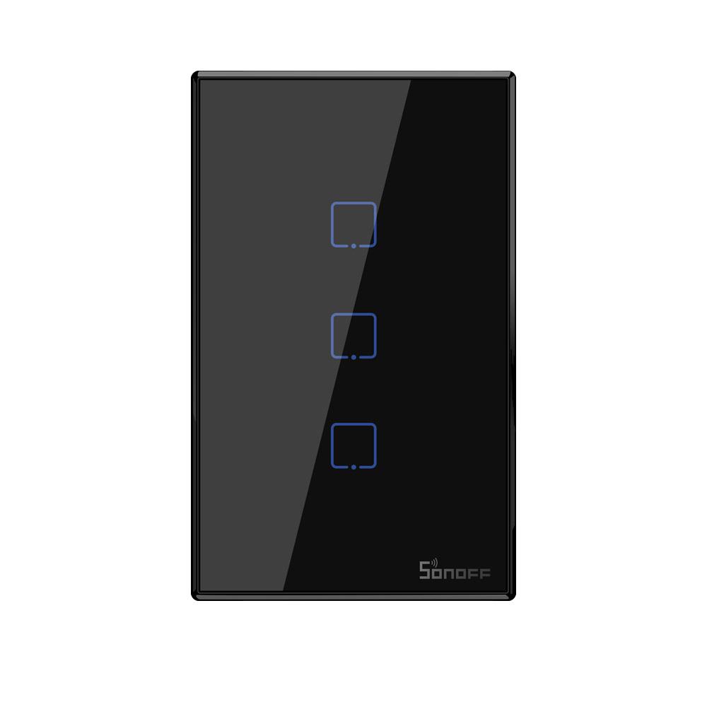 Sonoff Smart Light Switch Black 3CH WiFi\RF433 T3US3C