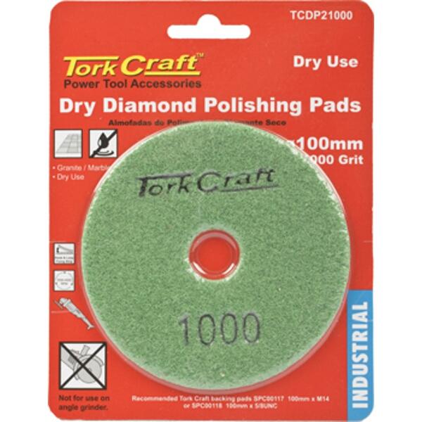 100MM DIAMOND POLISHING PAD 1000 GRIT DRY USE