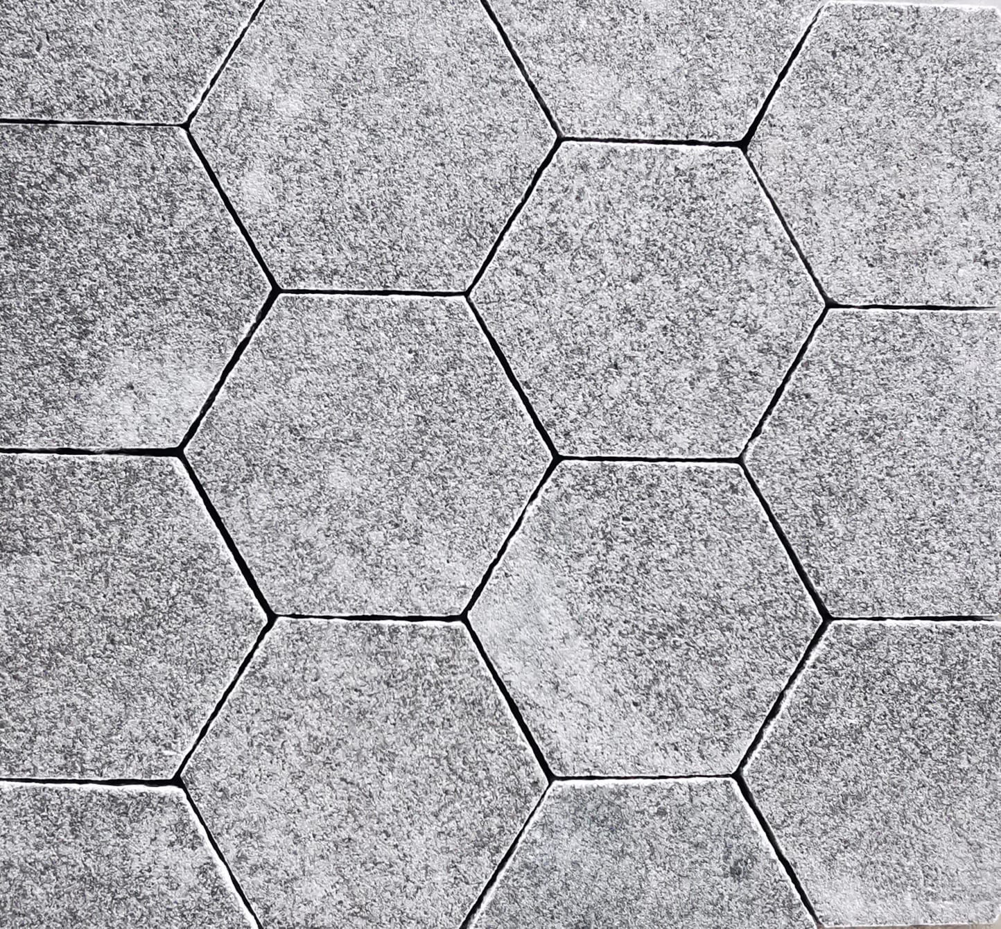 Granite Paver Big Hexagon