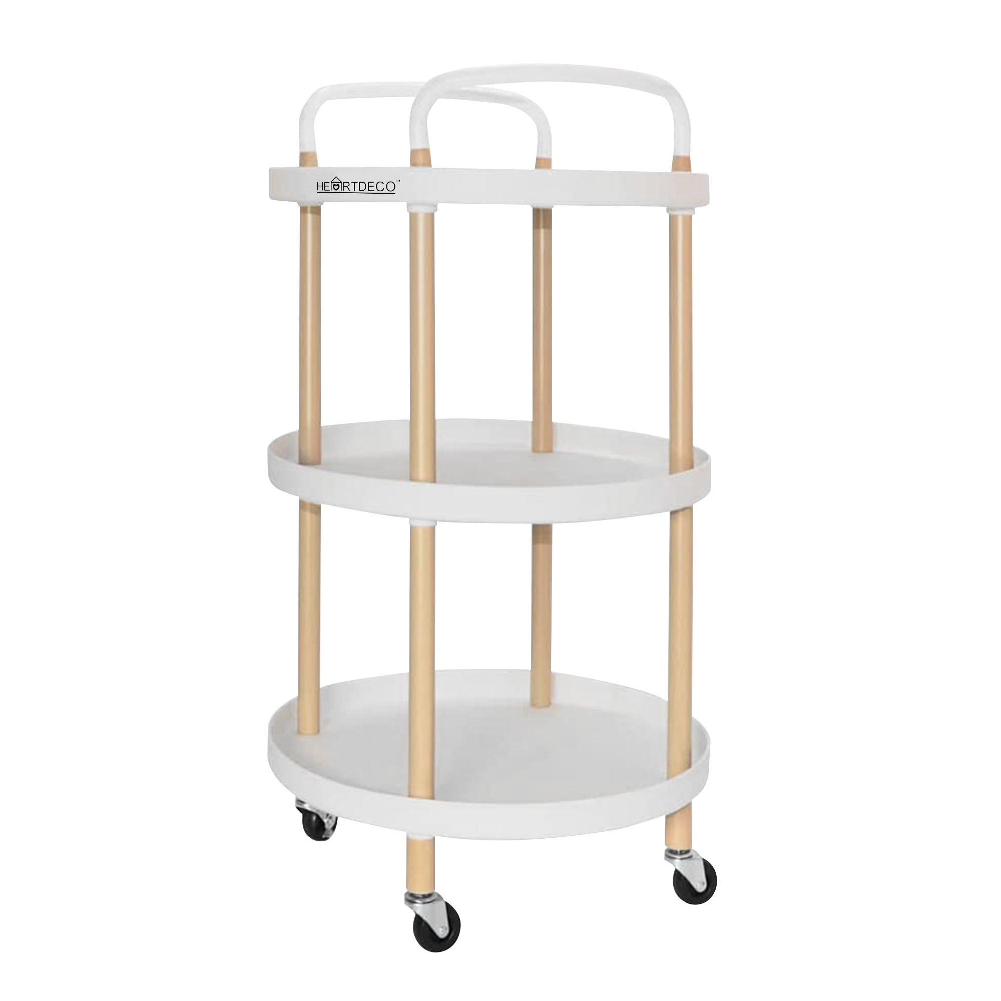 3 Tier Rolling Cart Storage Trolley