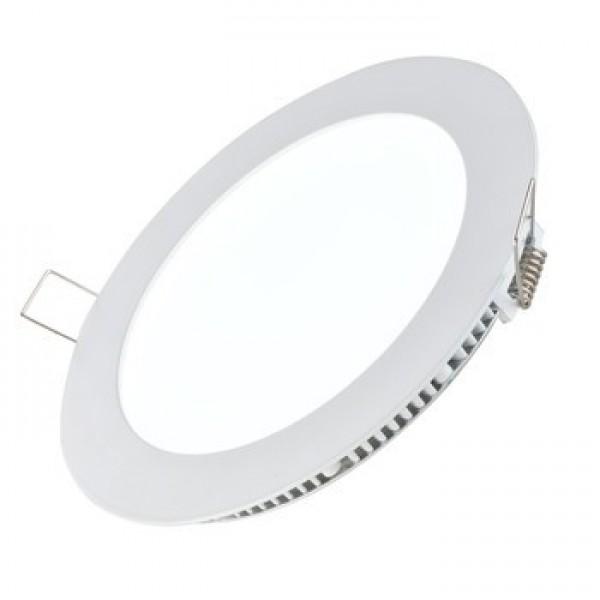 9W Round LED Panel Light - White