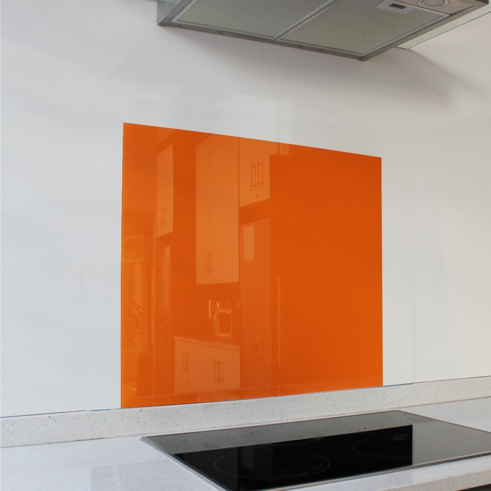 Orange Hob Glass Splashback (598 x 650 x 6mm)