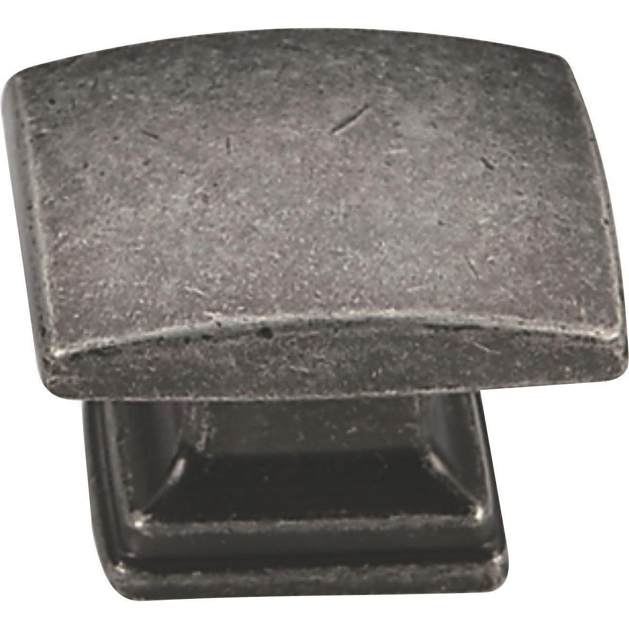 Antique Pewter Rectangular Cupboard Knob