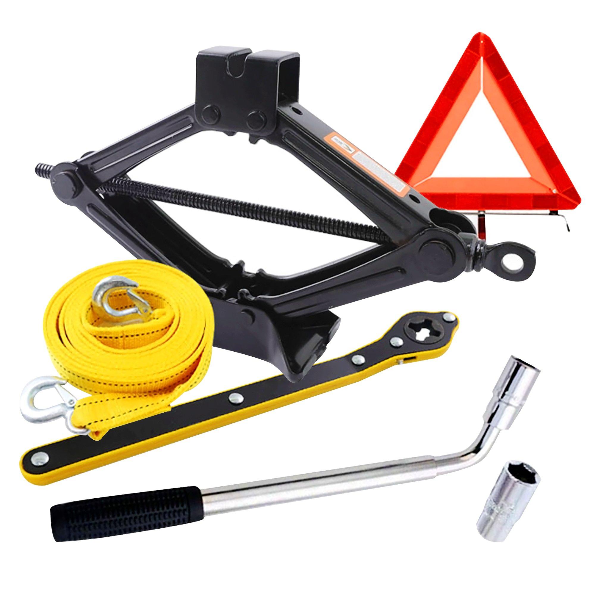 Emergency Car Jack Towing Rope Safety Set - 1.5 Ton