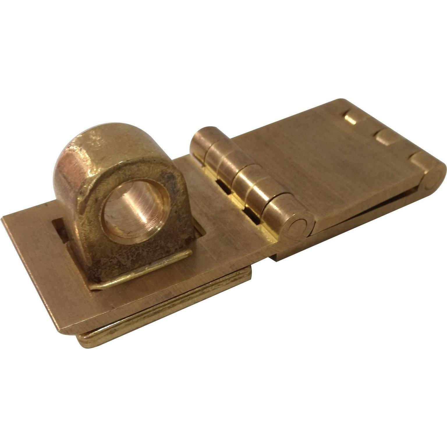 Double knuckle hasp and staple