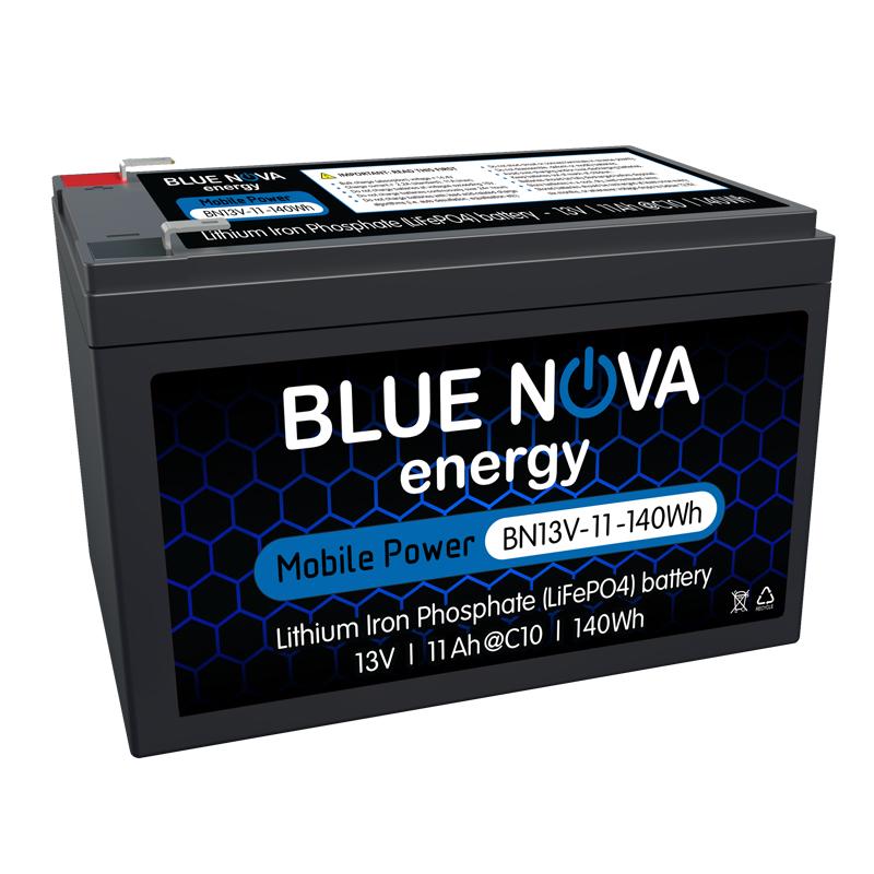 Blue Nova Energy - Lithium Iron Phosphate 13V - 11Ah -140Wh Battery