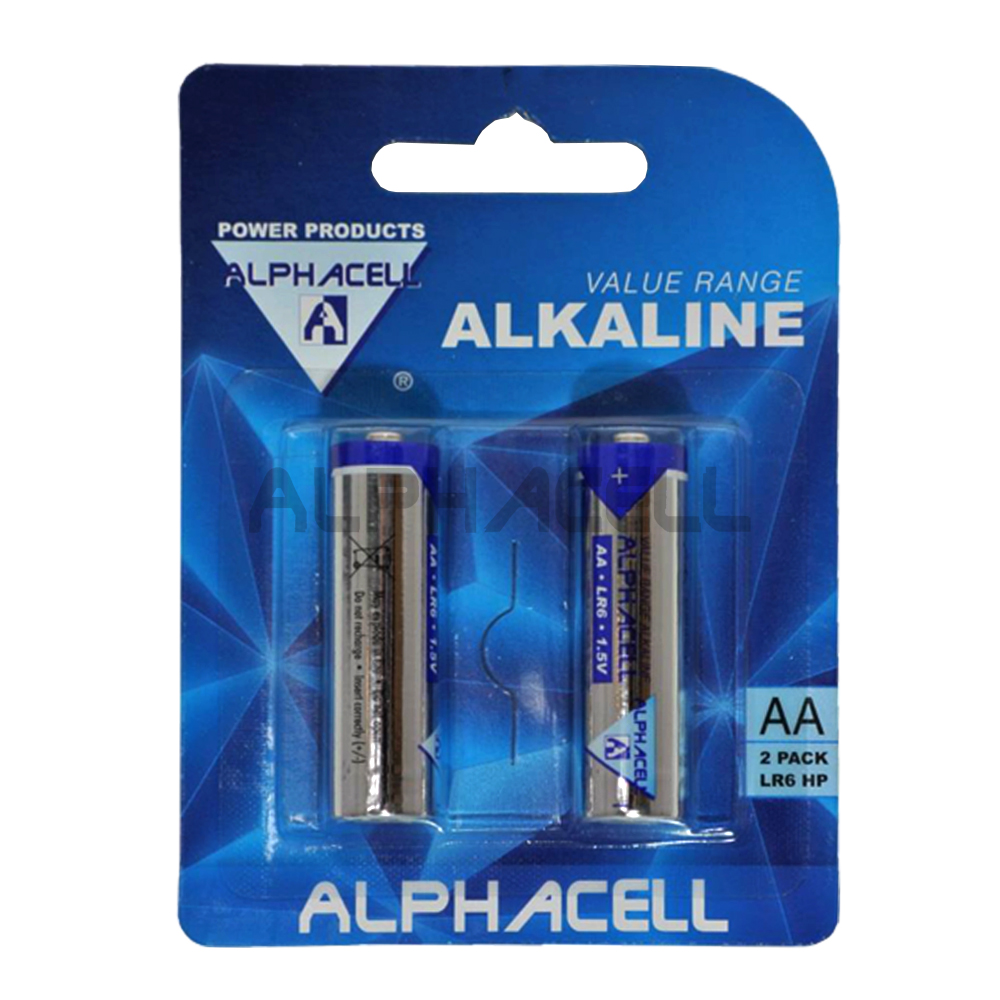 Alkaline Value AA LR6 2pc - CARDED