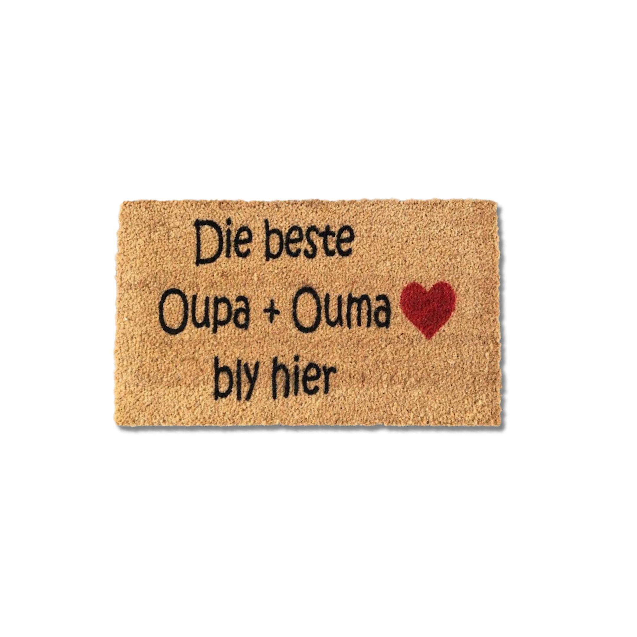 Matnifique Coir Doormat - Oupa en Ouma Design 700 x 400 x 14mm