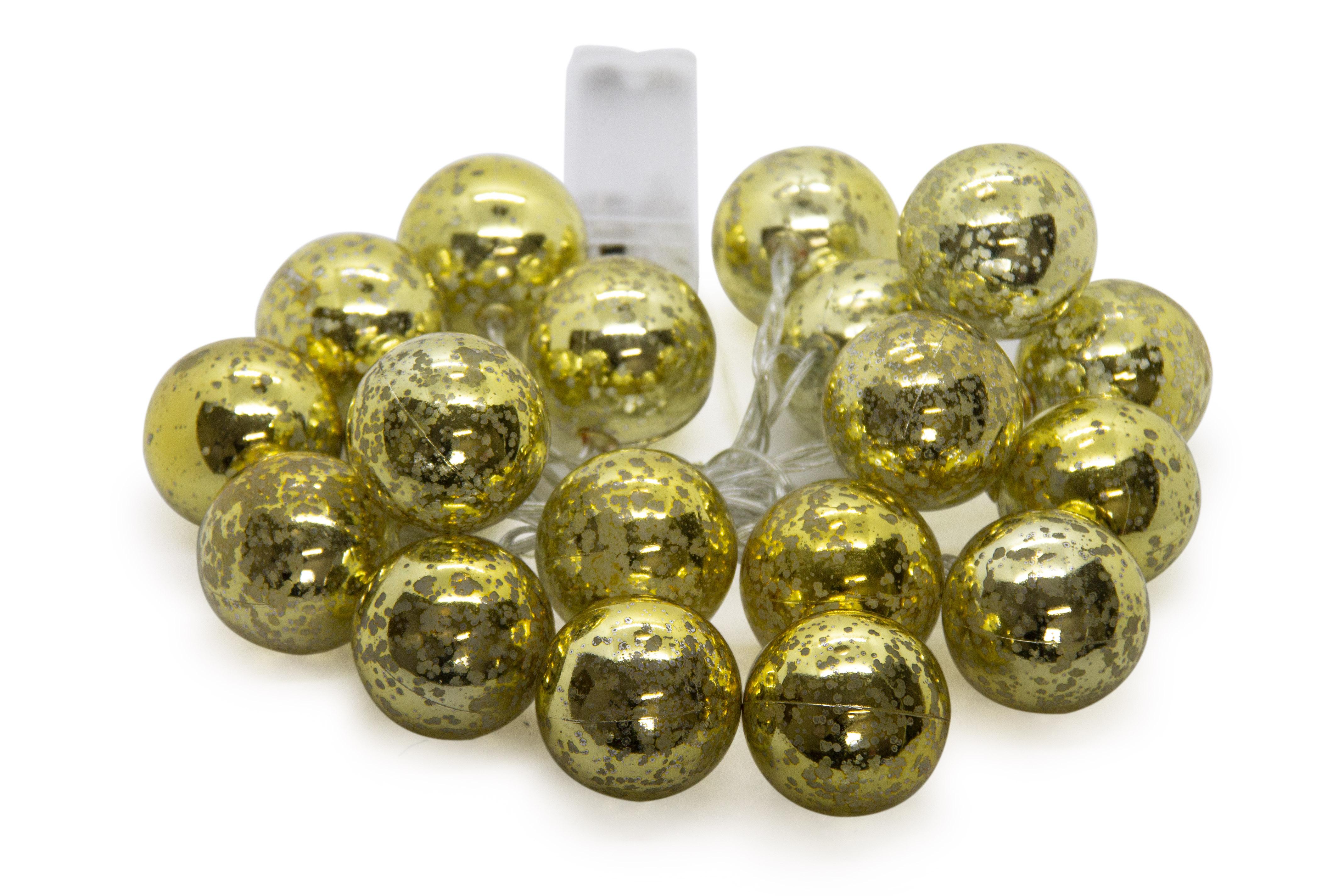 LED Fairy lights - Gold Ball 20pc