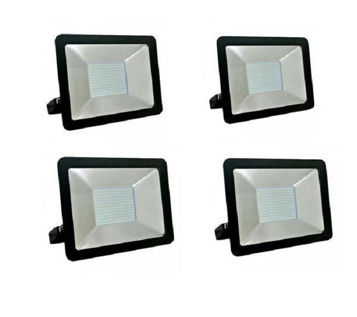 100W Slim LED Flood Light - Set of 4