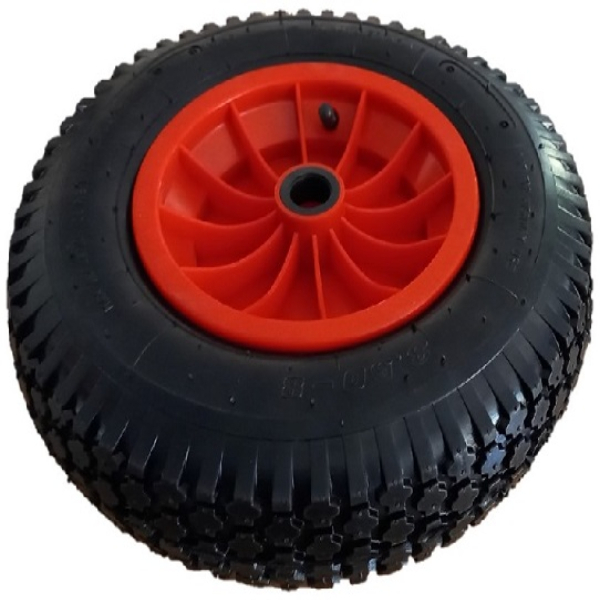 Roll-It Trolley Wheel 350 mm Red Nylon Centre