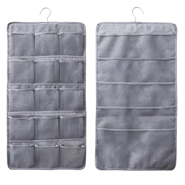 Dual Sided Closet Hanging Underwear Socks Organizer 2 Pack