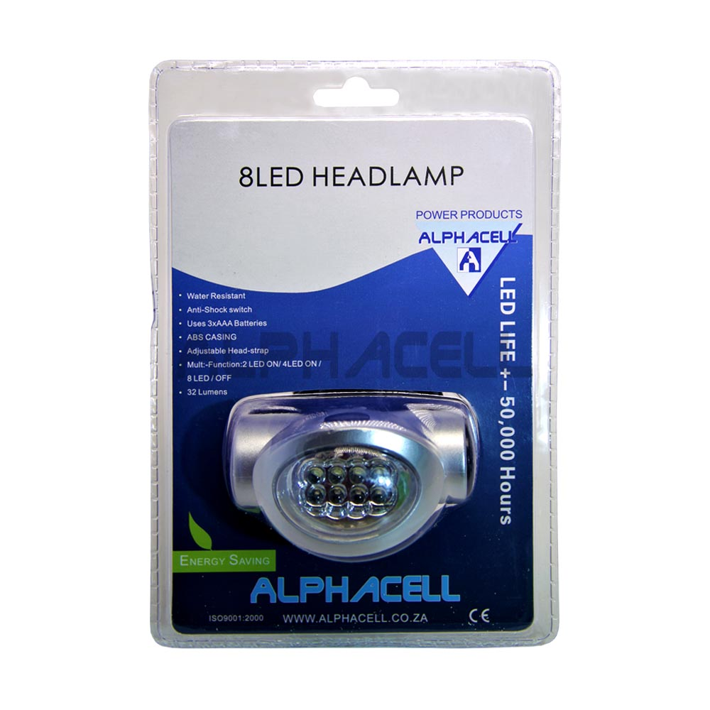 Headlamp 8LED – Uses 3AAA