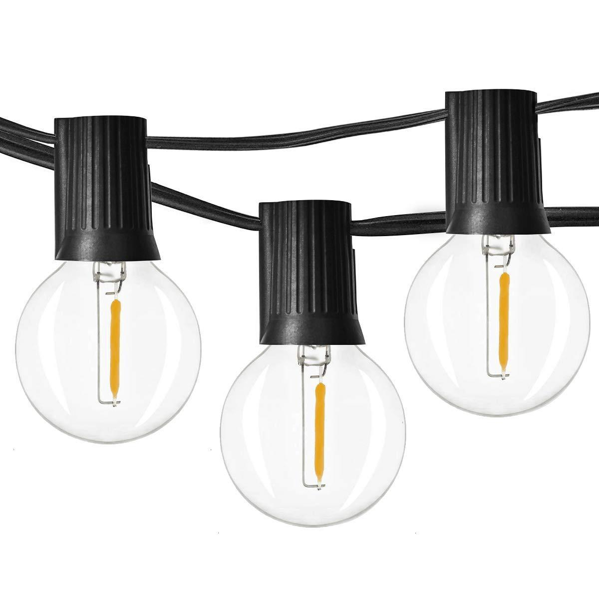 Litehouse 25LED Warm White Bulb String Lights - 10m