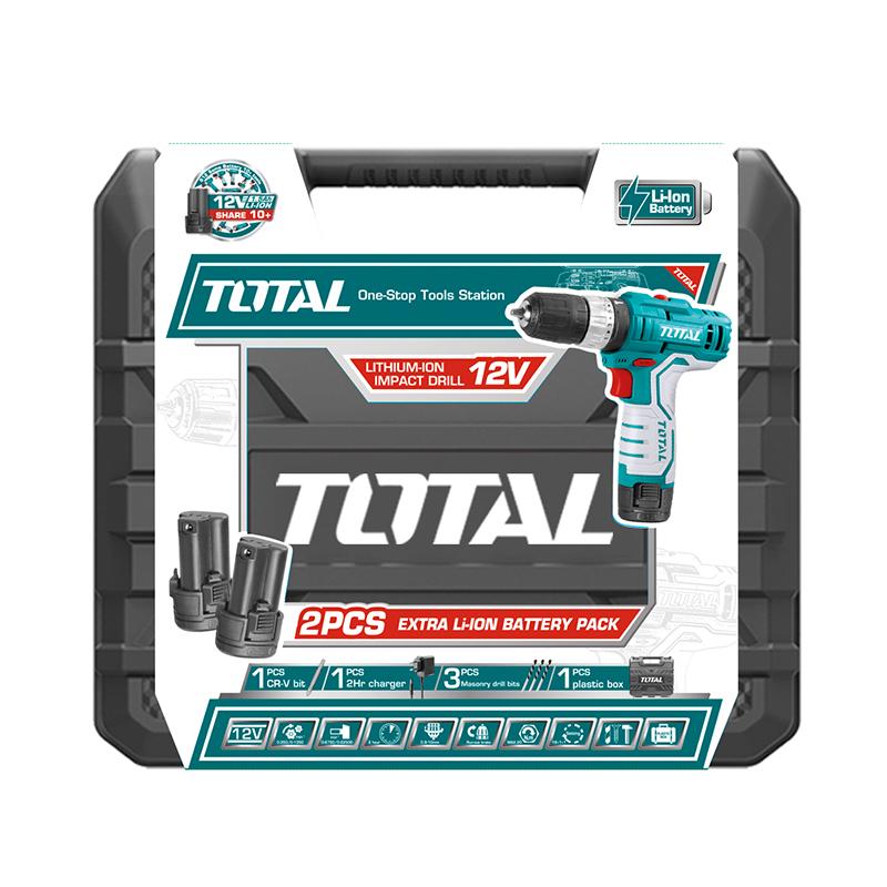 Total Tools Cordless Drill Set 12V Lithium-Ion