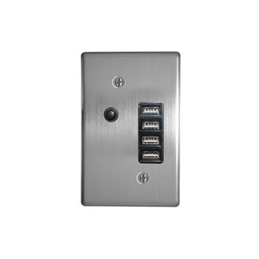 Classic Sockets - 2 x 4 4x USB - Silver
