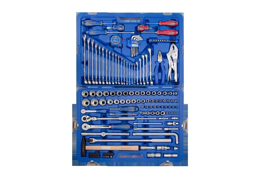 KING TONY – 1/4 3/8 & 1/2 Combination Socket & Wrench Set 143pcs