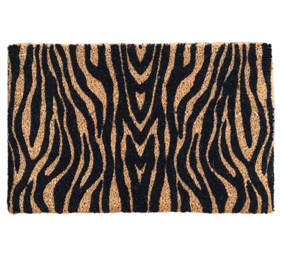 Matnifique Coir Design Doormat - Zebra Pattern 700 x 400 x 14mm