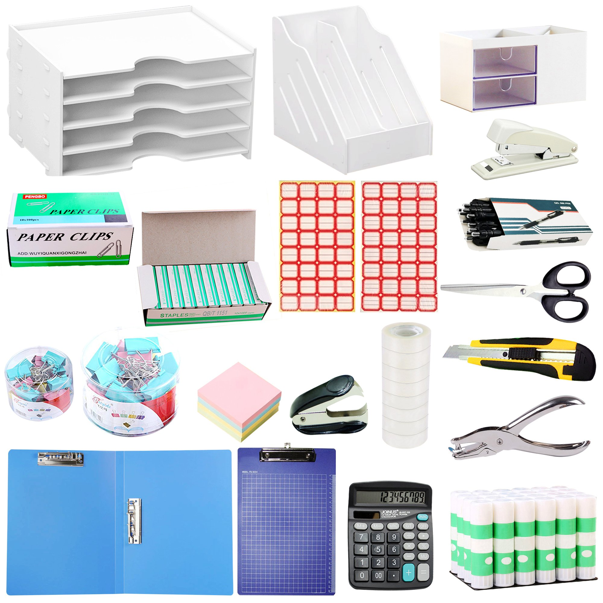 Office Supplies Stationery File Holders Organizers Set