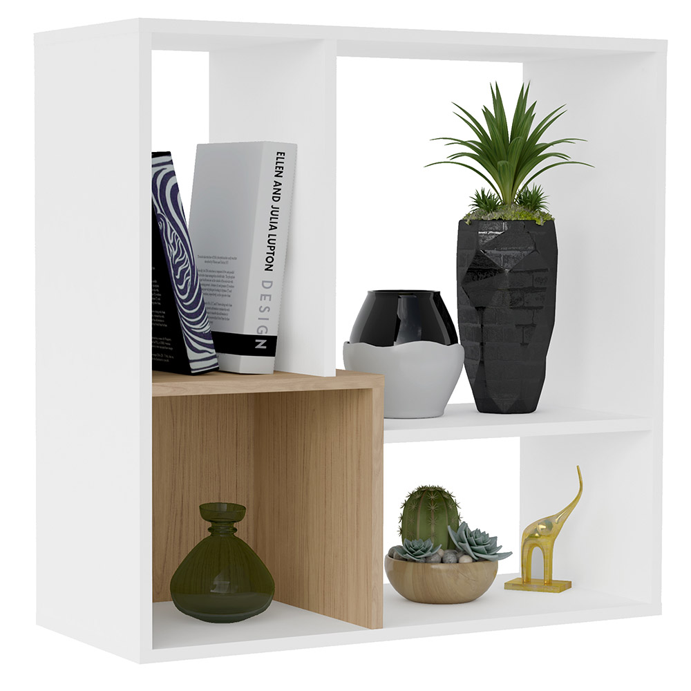 Click Furniture Lift Bookcase White & Oak