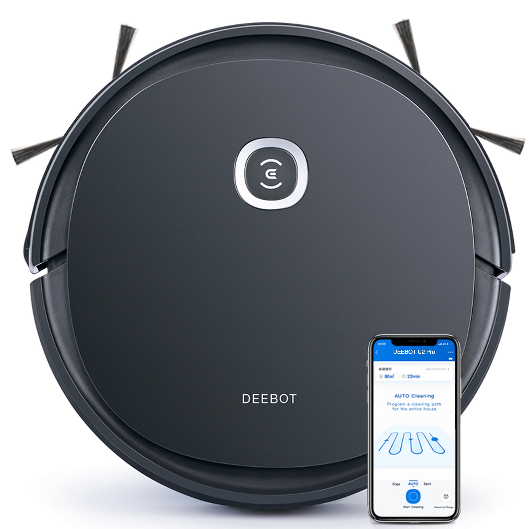 Ecovacs Deebot U2 Pro Robot Vacuum Cleaner - Pet Care Kit, 150min Runtime