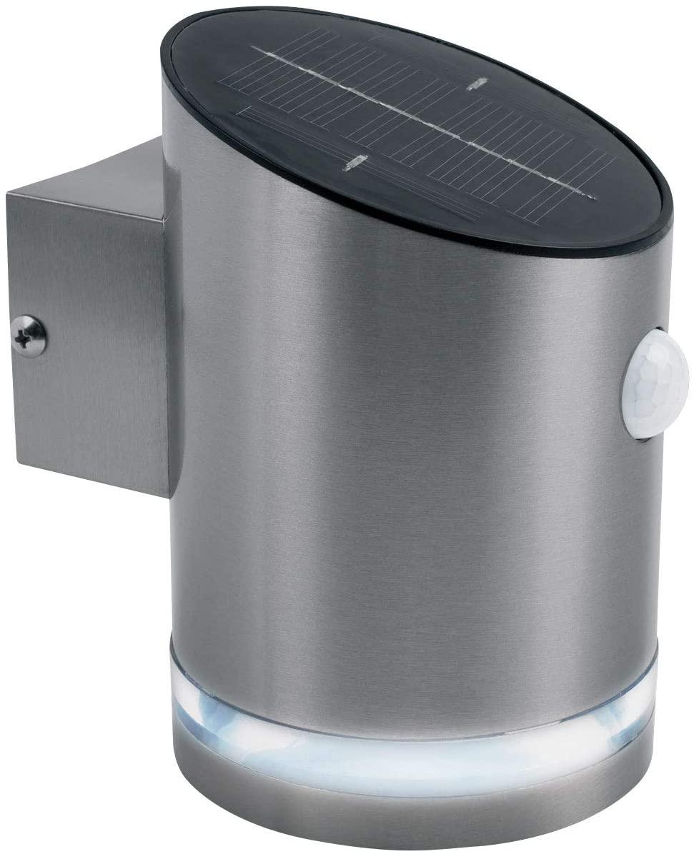 Luceco - Exterior Decorative Solar Wall Light W/ PIR Motion Sensor 100Lm 2W 4000K IP44