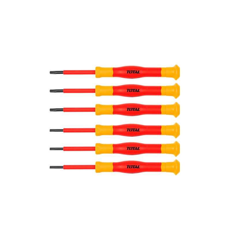 Total Tools Screwdriver Set Insulated Precision 6Pcs