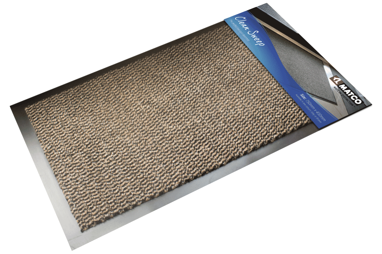 Clean Sweep Doormat Brown 75x45cm