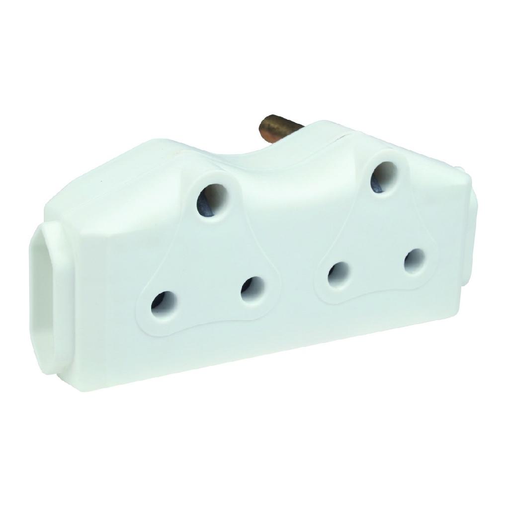 2x16A and 2xEuro Socket Adaptor