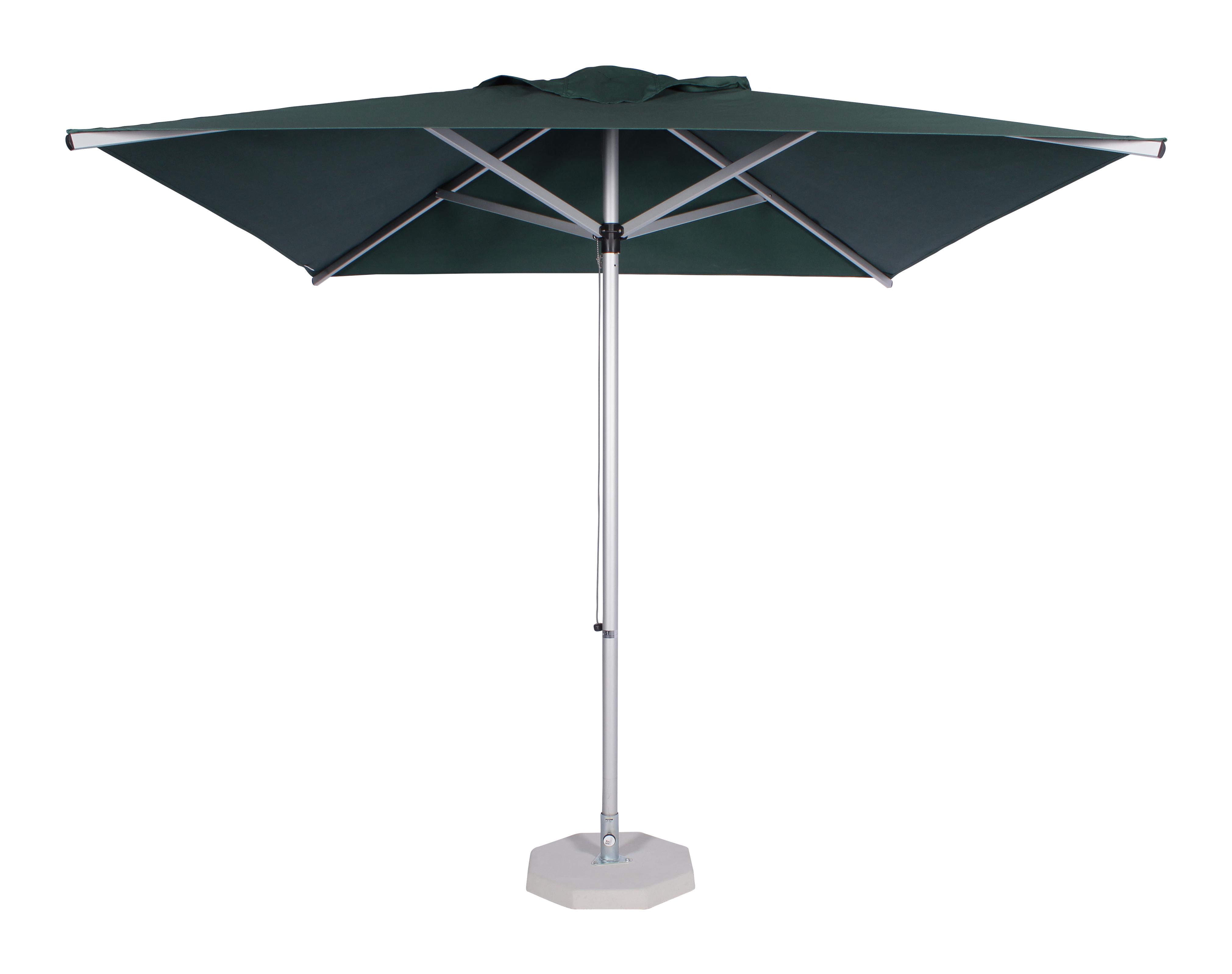 2.35m Square Alu Umbrella-Green