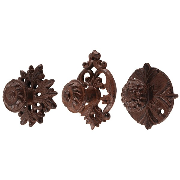 Cast Iron Doorknob Assortment 3pc